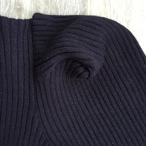 Topshop Tops - Top Shop Cropped Ribbed Knit Sweater